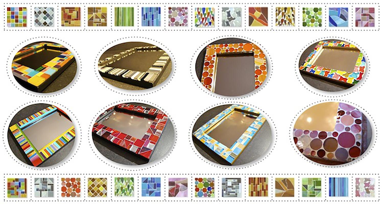 Cadres photo/miroir vendus en boutique ou réalisables sur commande. Formats standards - Estimation sur demande suivant motif et format.