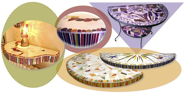 Consoles murales réalisables sur commande. Sur un piètement existant ou créée de toute pièce, la console est facile à placer dans la maison.